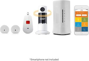 Home8 Video-Verified Medical Alert System - Equipped with Activity Tracking Sensors, Panic Button, Full Panoramic Twist Camera, and Night Vision for Sale in Malden, MA