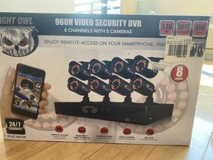 NIGHT OWL 960H video security DVR 8 cameras and 8 cameras for Sale in Cliffside Park, NJ
