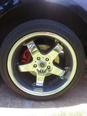 17 inch chrome rims with tires for Sale in Irving, TX