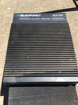 Blaupunkt BQX300 bridgeable quadro amplifier and crossover and Obcon speaker for Sale in Portland, OR