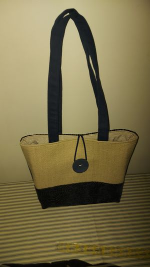 Handmade blue&beige bag for Sale in Ferrisburgh, VT