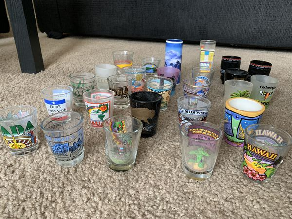 Random collection of shot glasses