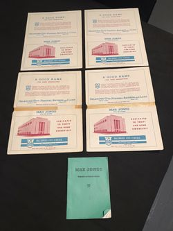 Vintage 1950's Bank Advertisement Mah Jongg Rules/Scoring Cards & 1986 Rule Book for Sale in San Angelo,  TX
