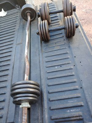 Standard weights with bars for Sale in Phoenix, AZ