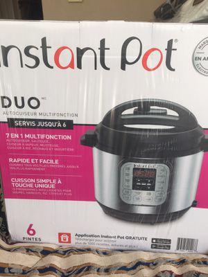 Brand new instant pot duo 7-IN-1 multi use pressure cooker, 6 quart. Still in the box for Sale in Keller, TX