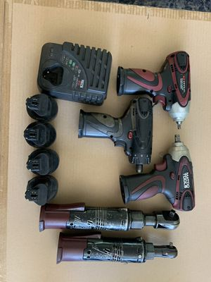 Matco infinium impact wratchets, impact gun, drill 4 batteries and charger for Sale in South Gate, CA
