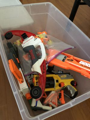 Bin of Nerf Guns and Toys for Sale in Baldwin Park, CA
