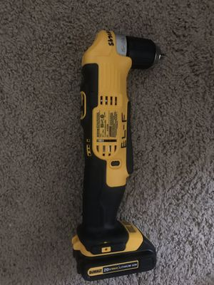 """BRAND NEW DEWALT 3/8"""" VSR CORDLESS RIGHT ANGLE DRILL/DRIVER for Sale in Carnegie, PA"""