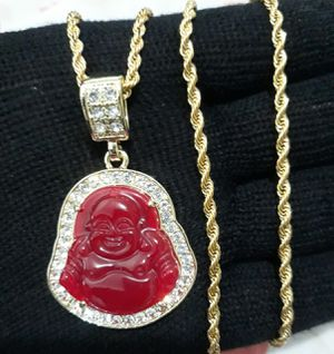 14k gold finish Buddha necklace for Sale in Los Angeles, CA