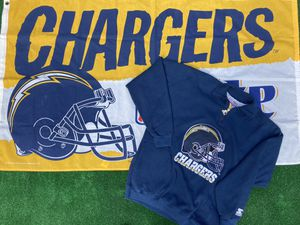 Chargers Flag and Vintage Starter 1/4 Zip for Sale in Chula Vista, CA