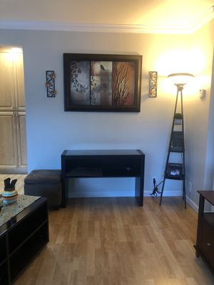 Console table, Frame, ottoman, side candles for Sale in Fremont, CA