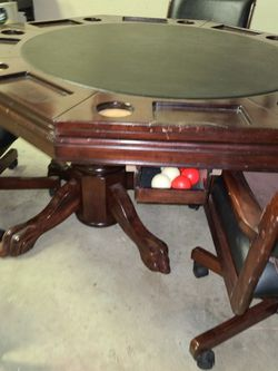 Poker Table With Bumper Pool for Sale in Stockton,  CA