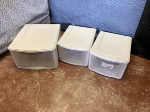 3 Drawer Plastic Storage Container Drawers - 2 Different Sizes for Sale in Fort Lauderdale, FL