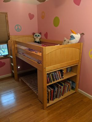 Loft Bed and Bookcase for Sale in Naperville, IL