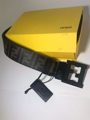 Fendi Brown FF College Leather Belt **Authentic for Sale in Queens, NY