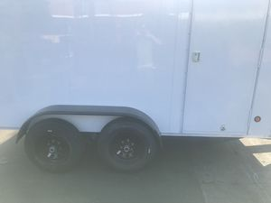12'x6'x6' enclosed tandem axle trailer for Sale in Rancho Cucamonga, CA