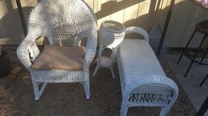 Very nice antique wicker furniture set all three pieces forty bucks for Sale in Grafton, OH
