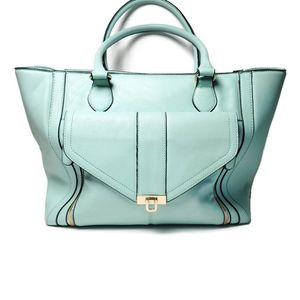 Apt 9 Large Shoulder Bag Tote Faux Leather in Light Blue for Sale in Temecula, CA