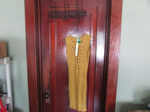 Yellow and gold dress size medium for Sale in Aurora, IL