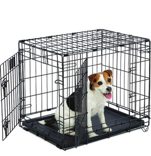 """24"""" double door folding metal dog crate with divider for Sale in Chicago, IL"""