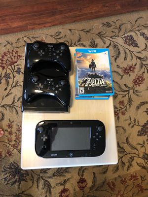 Wii U (32GB) w/games and controllers for Sale in Nipomo, CA