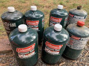 7 Partial cans of propane fuel $10 for Sale in Leavenworth, WA