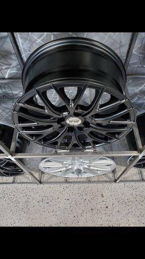 16x7 4x100 / 4x114 +40 satin black wheels fits civic miata mazda nissan 4 lug wheels tires Tim's for Sale in Tempe, AZ