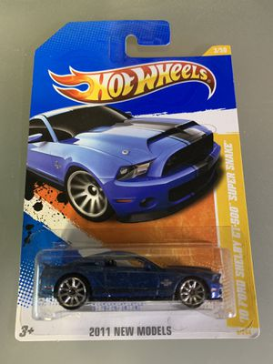 Hot Wheels 2011 New Models '10 Ford Shelby GT-500 'Super Snake' for Sale in North Bergen, NJ