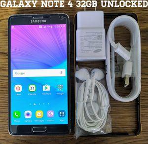 Galaxy Note 4 UNLOCKED 32GB + Accessories for Sale in Lincolnia, VA
