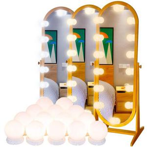 Vanity Mirror Lights Kits LED Lights for Makeup Mirror Hollywood Vanity Mirror Lights with 14 LED Bubbles for Bathroom Dressing Table Mirror Lights W for Sale in Pomona, CA
