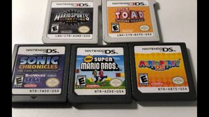 Lot Of 5 Nintendo 3ds Games Mario Sports, Toad Treasure Tracker, Mario Bros More All games works perfectly Pickup Acton ma or ships for $3 for Sale in Westford, MA