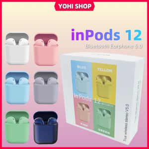InPods12 wireless earbuds, Bluetooth headphones, EarPods Compatible With iPhone And Android for Sale in High Point, NC