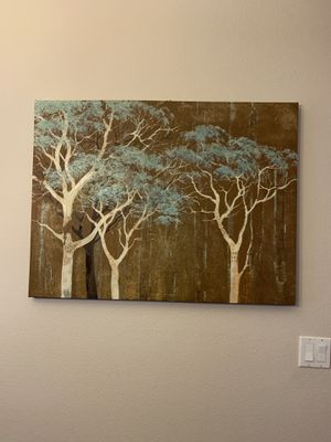 39.5 x 30in birch tree painting for Sale in Tracy, CA