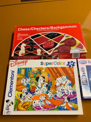 2 Puzzles and 1 table game for Sale in Chula Vista, CA