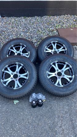 Brand new five lug alloy wheels with trailer tires for Sale in Gresham,  OR