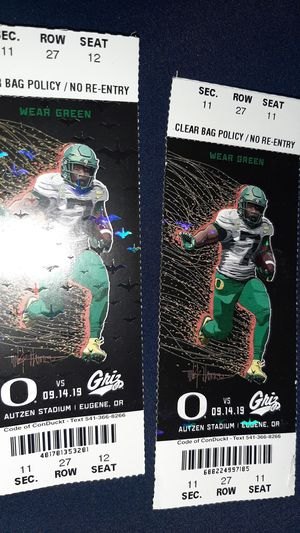 Oregon ducks football tickets for Sale in Vancouver, WA