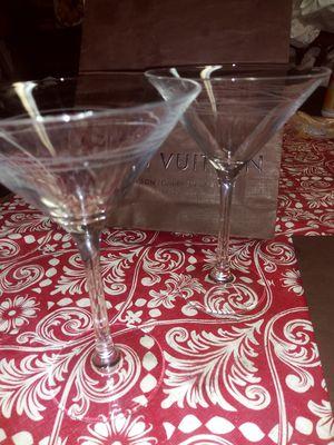 2 baileys irish cream martini glasses for Sale in Houston, TX