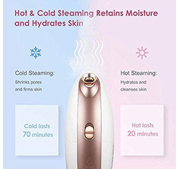 Lavany Facial Steamer Nano Ionic Hot & Cool Mist Moisturizing Face Steamer Sprayer with Aromatherapy