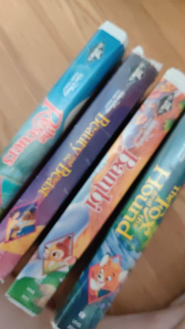 4 Black Diamond edition Disney VHS