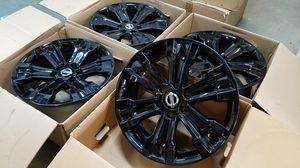 "20"" Nissan Titan Armada Original Wheels Rims Black TRADE INS OK for Sale in Los Angeles, CA"
