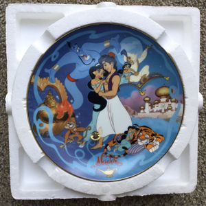 Disney's Musical Plate ~ Aladdin ~ Check out my Page for more collectibles 😊 for Sale in Fresno, CA