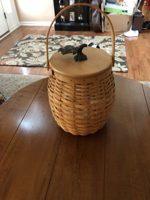 October Fields Basket & Lid w/Protector Set by LONGABERGER for Sale in Plainfield, IL