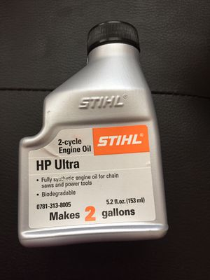 5.2oz Bottle HP Ultra 2 cycle Synthetic Oil Make TWO GALLONS STIHL for Sale in Columbia, MO