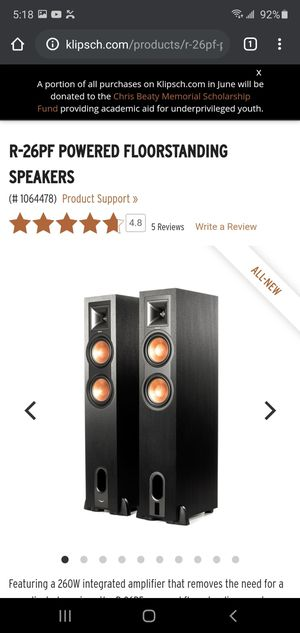 KLIPSCH POWERED TOWER SPEAKERS for Sale in Modesto, CA