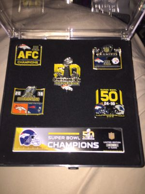 "BRONCOS SUPER BOWL 50 PIN SET ""MAKE OFFER "" for Sale in Marietta, OH"