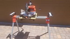 Miter Saw black and decker firestorm with stand for Sale in Las Vegas, NV