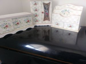Jewellery cabinet. 10x9x5, letter organizer 8x10x5, drawer chest 12x6x5 for Sale in Fountain, CO