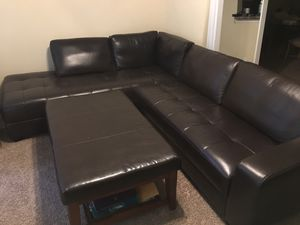 Leather Couches and ottoman for Sale in Brentwood, TN