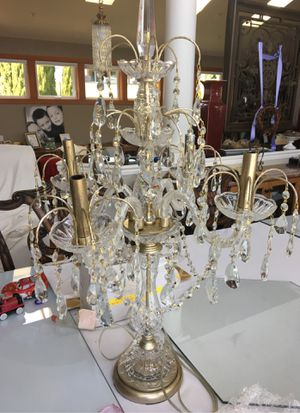 Crystal chandelier lamp like new for Sale in Bremerton, WA