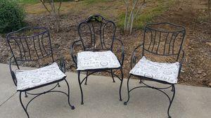 3 metal outdoor chairs for Sale in Mt. Juliet, TN